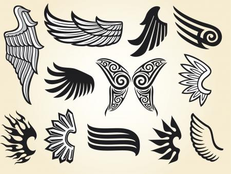 engel tattoo: Fl�gel-Sammlung (Satz von Fl�geln)