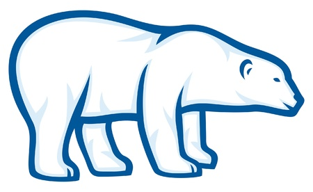 bear silhouette: polar bear