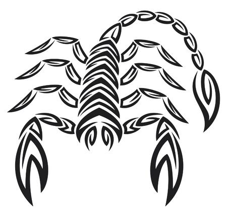 escorpio: tatuaje del zodiaco escorpión. astrología signo.