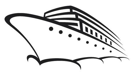 luxury travel: crucero (transatl�ntico, trazador de l�neas moderno, barco) Vectores