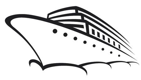 luxury yacht: cruise ship (ocean liner, modern liner, ship)