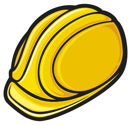construction workers hard hat  protective helmet  Stock Vector - 14836437