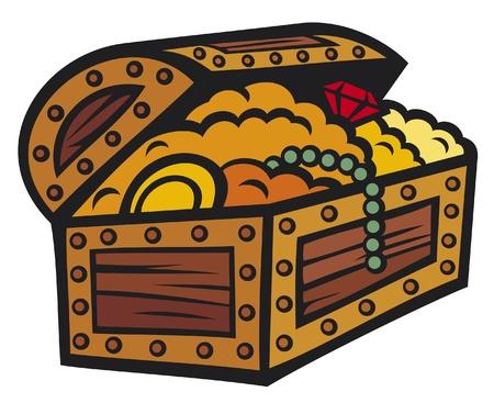 treasure chest Stock Vector - 14836360