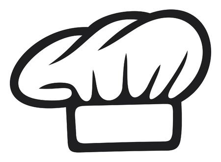 흰색 요리사 모자