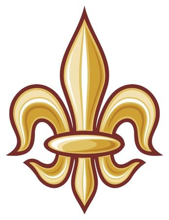 de': lily flower - heraldic symbol fleur de lis  element