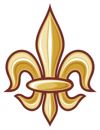 heraldic symbol fleur de lis: lily flower - heraldic symbol fleur de lis  element