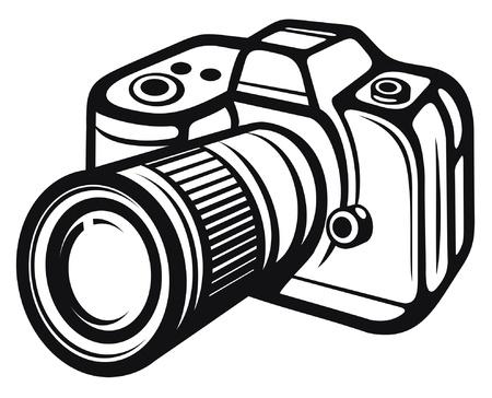 Compact digital camera  digital photo camera  Illustration