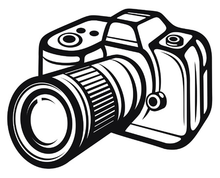media gadget: Compact digital camera  digital photo camera  Illustration