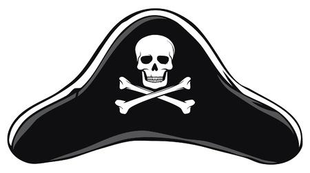 captain: Black Pirate Hat  Pirate s Hat  Illustration