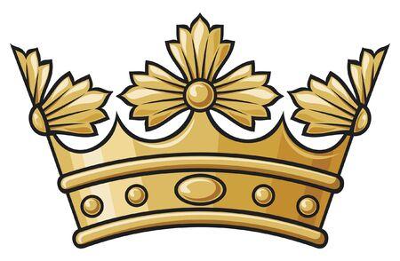 heraldic crown Stock Vector - 14836345