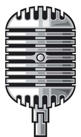 classic microphone Stock Vector - 14836392