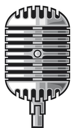 classic microphone Stock Vector - 14836392