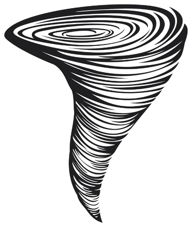 Illustratie van tornado