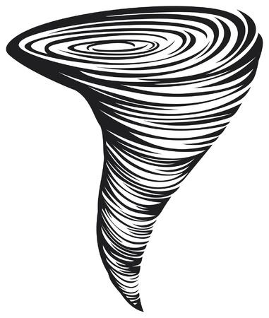 dramatic sky: Ilustraci�n del tornado Vectores