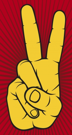 victory sign: The Victory sign, hand gesture