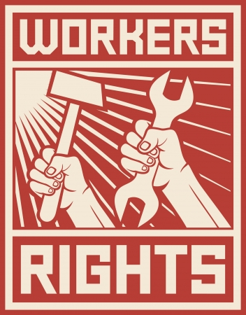 workers rights poster  workers rights design  Vector