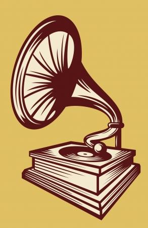 gramophone: gramophone with horn speaker