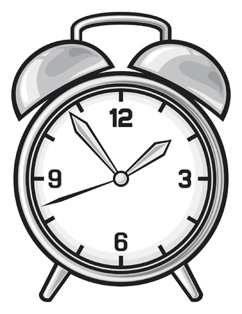 clock cartoon: Classic alarm clock
