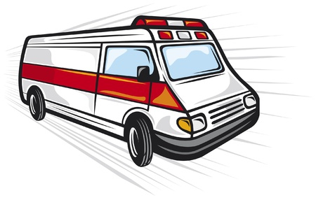 emergency response: ambulance van
