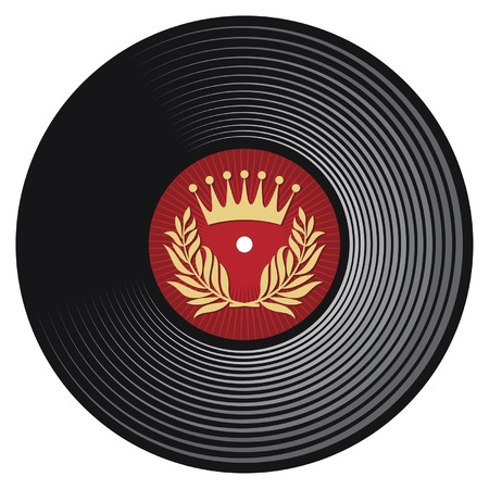 vinyl disc  vinyl record  Vector