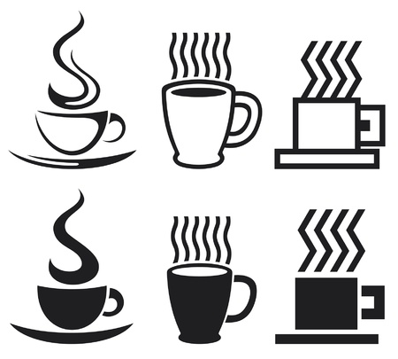 teacup: set of coffee cup icons  coffee cups, coffee mugs  Illustration