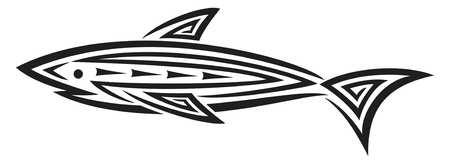 Black shark tattoo for design  shark tattoo in tribal style, tribal tattoo design   Vector