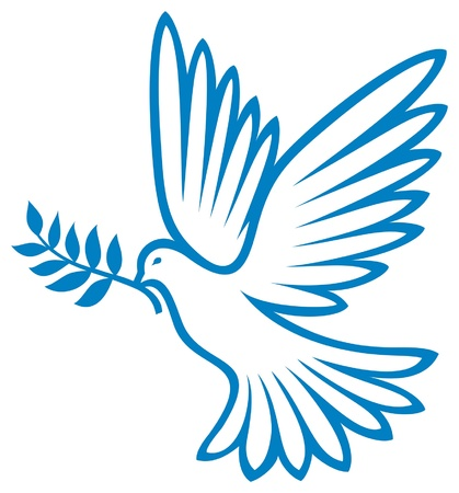 dove of peace: dove of peace  peace dove, symbol of peace  Illustration