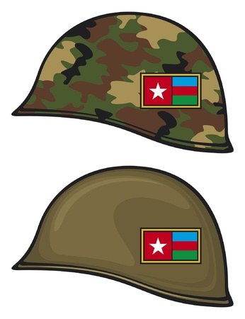 helmet: army helmet  military helmet  Illustration