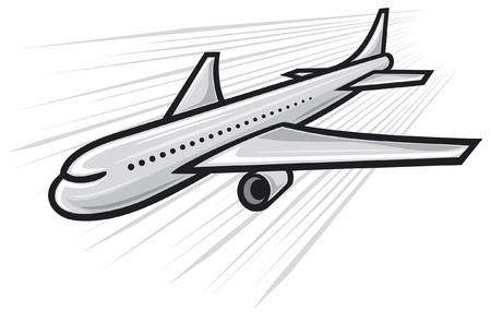 passenger: vector plane  airliner  Illustration