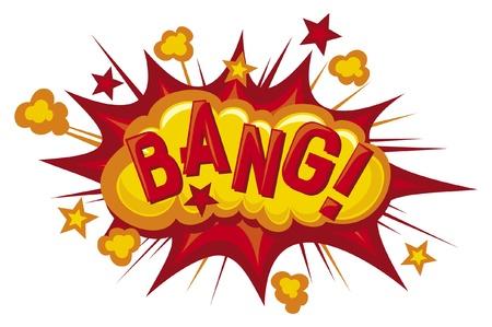 explosie: cartoon - bang Comic book explosie Stock Illustratie