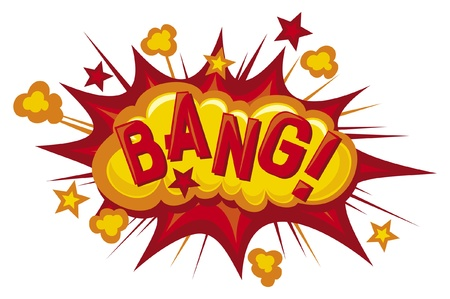 cartoon - bang  Comic book explosion  Vector