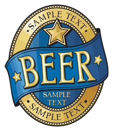 beer label design Stock Vector - 14973401