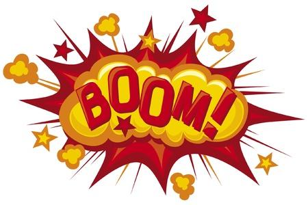 bombe: dessin animé - book explosion Comic Boom Illustration
