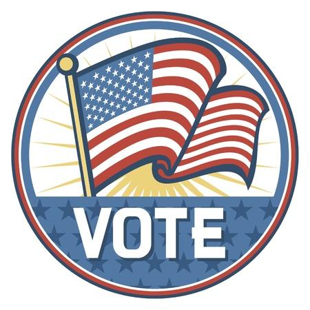 nomination: Estados Unidos Elecciones pins insignia, dise�o