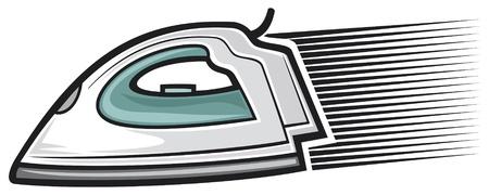 hierro: plancha de vapor