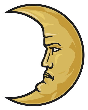 croissant de lune: croissant de lune visage