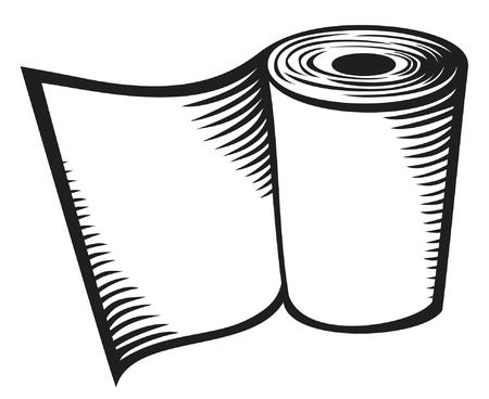 papel reciclado: rollo de papel higi�nico