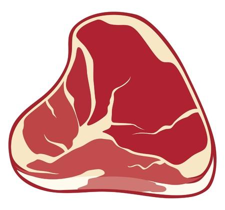 rindfleisch roh: Steak (Fleisch)