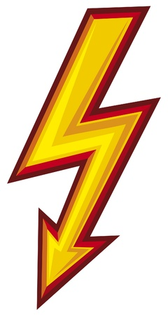 thunder storm: lightning symbol Illustration