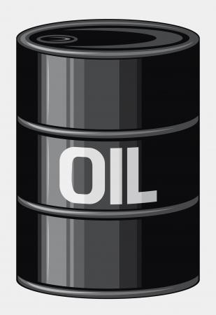 crude: Black oil barrel