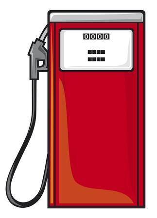 pompe: distributore di benzina (stazione olio) Vettoriali