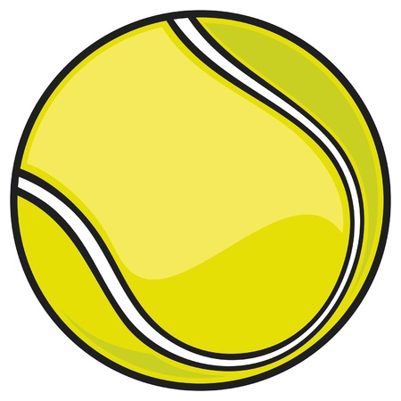pelotas de deportes: pelota de tenis Vectores