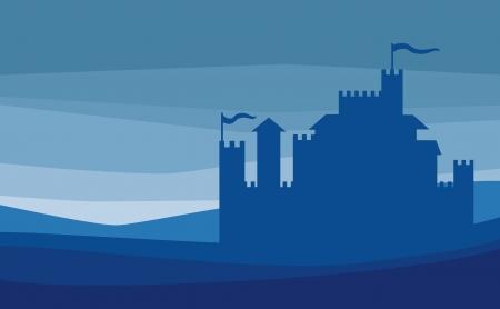 castillos de princesas: Castillo de silueta