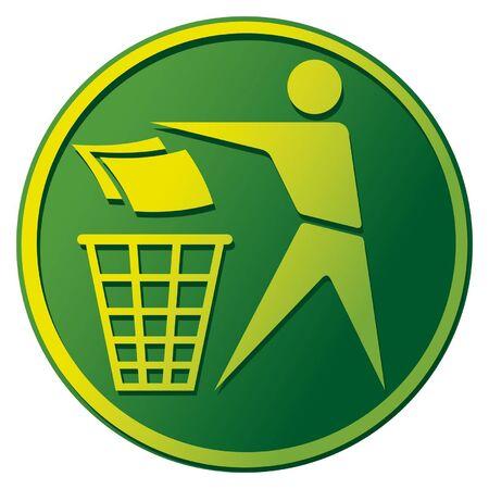Recycling Sign (Recycling Sign Label, Recycling Sign Button Icon) Vector