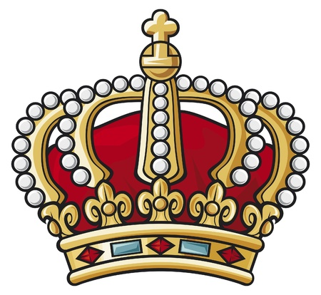 christ the king: heraldic crown Illustration