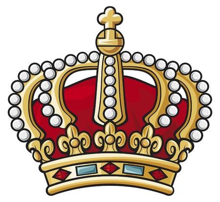 crown of light: heraldic crown Illustration