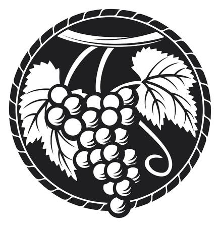 uvas: uvas s�mbolo (uvas dise�o, uvas etiqueta)