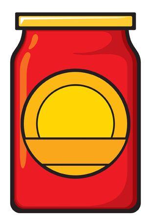 sweet sauce: jar