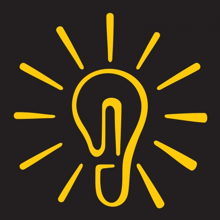 filament: light bulb Icon (light bulb symbol, light bulb sketch) Illustration
