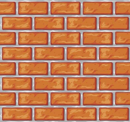 brick wall background  orange bricks background  Stock Vector - 14974462